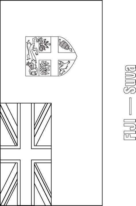 Fijian People Free Colouring Pages Fiji Flag Coloring Page
