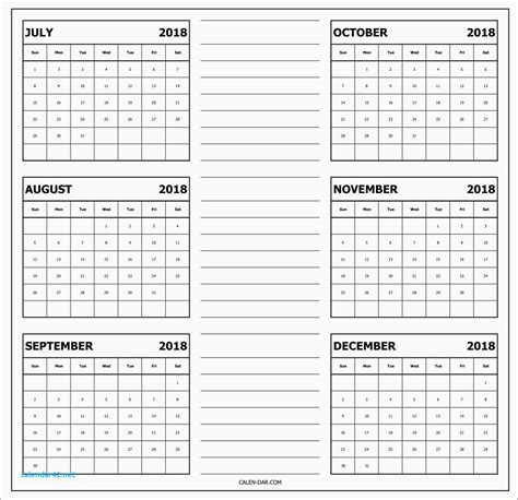 six month calendar template best of printable calendar six months calendar