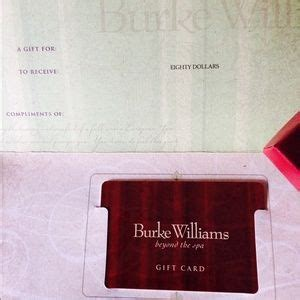 Burke Williams Gift Card - 13 off other 80 value burke williams gift card from justine s closet on poshmark