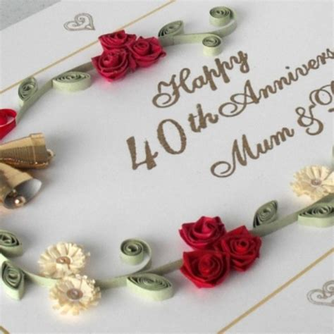 Wedding Anniversary Gift Stages by 40 Wedding Anniversary Cards