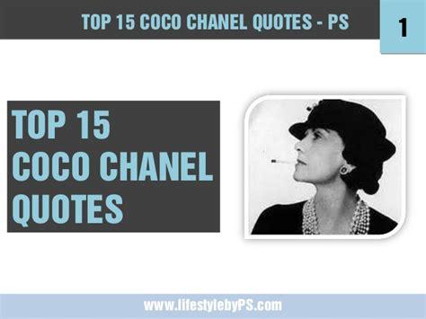 coco chanel entrepreneur biography top 15 coco chanel quotes