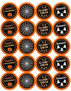 halloween 2 inch round sticker labels with cute designs