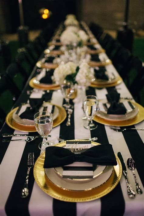 picture of black and gold wedding ideas 7