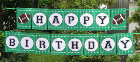 printable birthday soccer banner football party printables invitations decorations