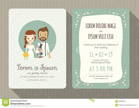 Template For Wedding Card From To Groom by Wedding Invitation Card With Groom And