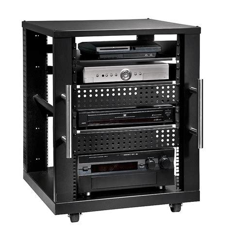 Audio Component Rack by Peerless 15u Av Component Rack System Black Avm