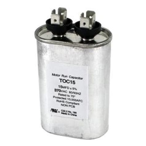 packard 370 volt 15 mfd motor run oval capacitor toc15