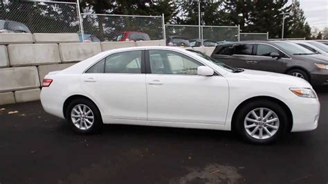 2010 Toyota Camry Xle 2010 Toyota Camry Xle White Ar067191 Seattle