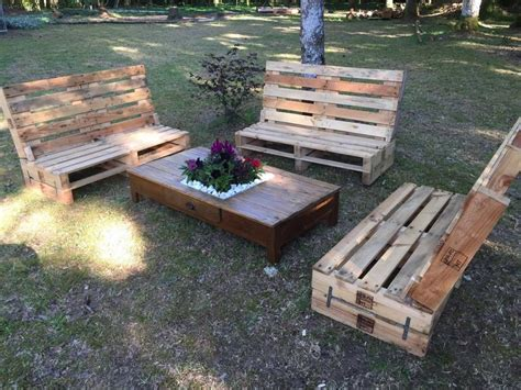 Outdoor Wooden Pallet Furniture Pallet Ideas Recycled Patio Furniture Wood Pallets