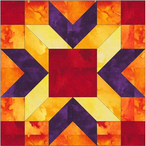 4 Inch Quilt Block Patterns by Merry Kite 15 Inch Paper Template Quilting Block Pattern