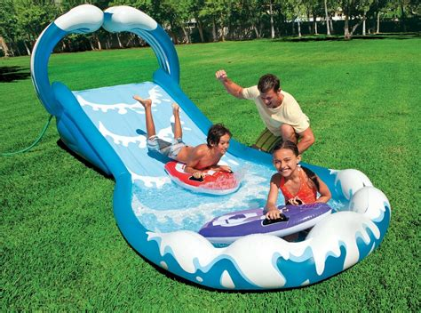 backyard water toys inflatable water slide commercial pool park kids wet