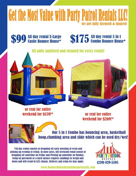 Bounce House Rentals In Cape Coral Fl
