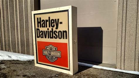 harley davidson lighted signs 1980 harley davidson lighted dealer sign 60x72 k107