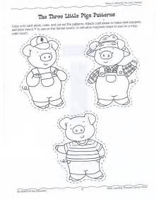 the three pigs puppet templates efp the three pigs