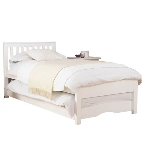 Guest Bed Trundle Clifton White Guest Bed With Trundle And Mattresses Next