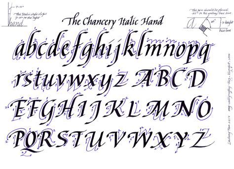 fancy cursive calligraphy alphabet fancy cursive