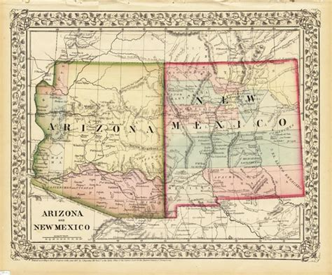 road map of arizona and new mexico map 753 arizona and new mexico