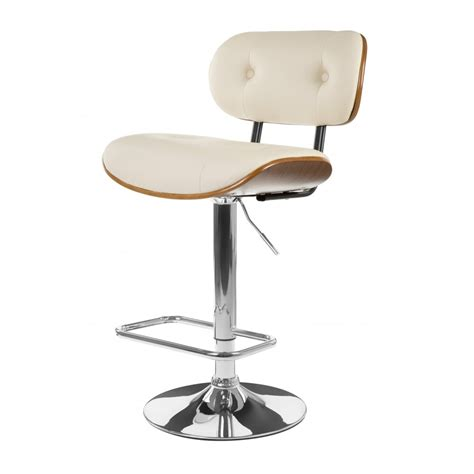 Button Back Bar Stool by Buy Faux Leather Walnut Button Back Bar Stool At