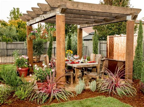 pergola in backyard 15 before and after backyard makeovers landscaping ideas