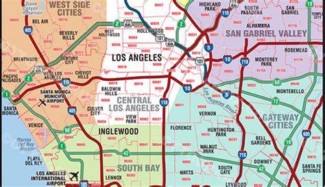 zip code maps los angeles los angeles zip code map zip code map