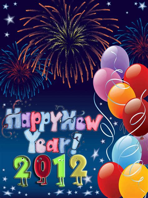best wishes for happy new year greeting cards 2012