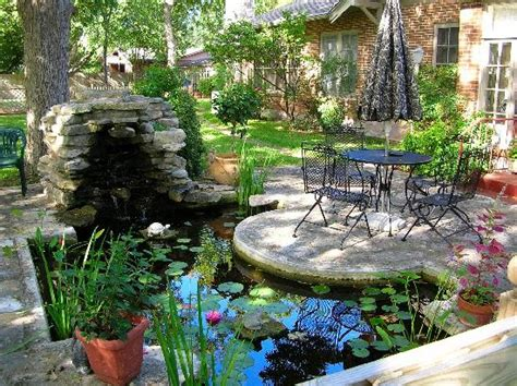 patio koi pond enjoy the patio koi pond and gardens picture of