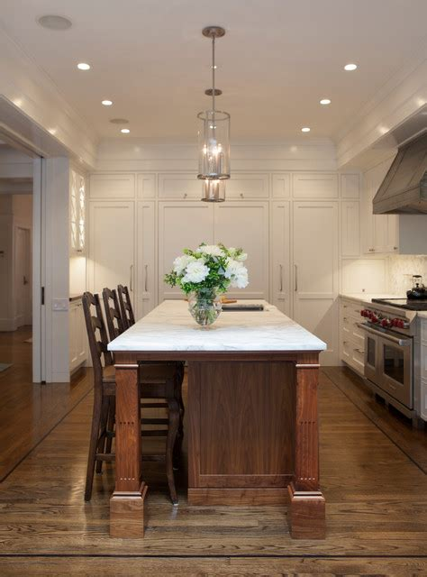 walnut island counter tops traditional kitchen black walnut kitchen island with white marble countertops