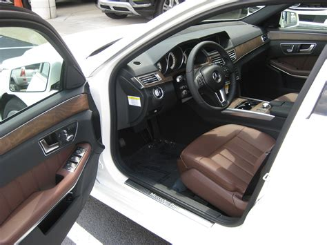 Brown Leather Interior Car by Benzblogger 187 Archiv 187 2014 Mercedes E350 With