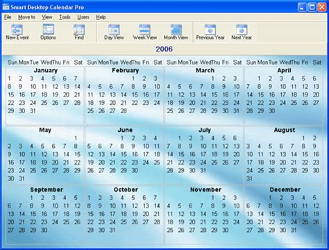 free personalized calendar software 1st smart desktop calendar v10 6 shareware a