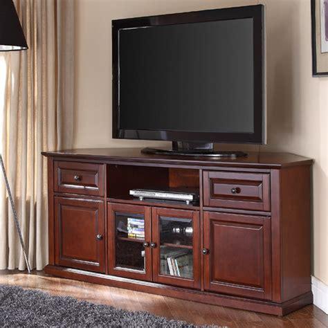 crosley 60 inch corner tv cabinet stand hokku designs 60 quot corner tv stand reviews wayfair