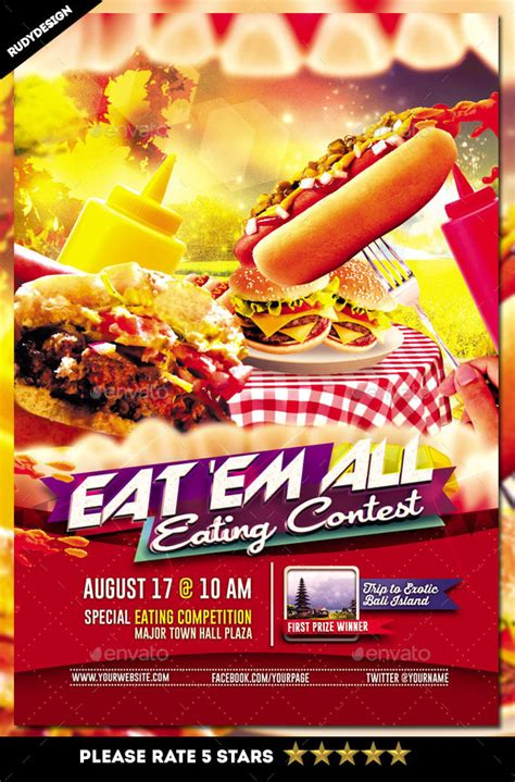 flyer design competition eating contest flyer template by rudydesign graphicriver