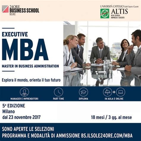 Executive Mba Programs In Illinois by 5 Edizione Executive Mba Il Sole 24ore Business School E