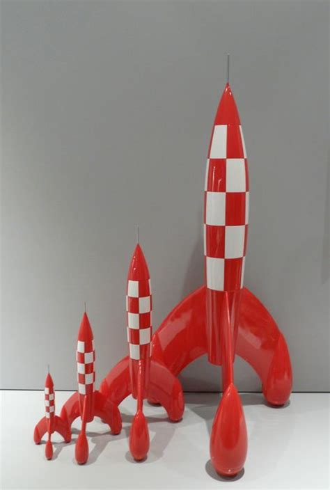 Raket Flypower Pulanggeni New 2015 tintin rocket destination moon fusee 29 cm with box new figurine figure ebay