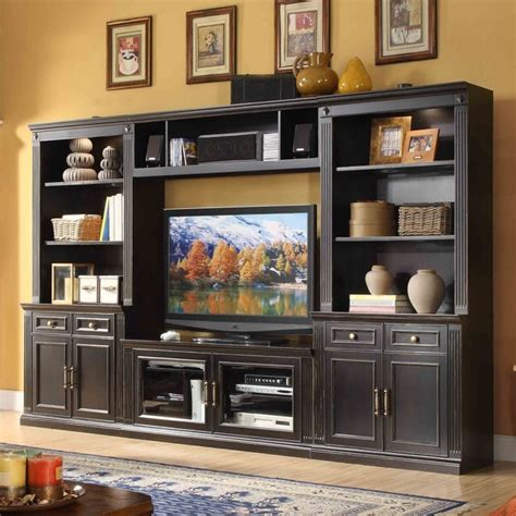 wall media unit windsor 4 piece entertainment wall unit with 56 in tv