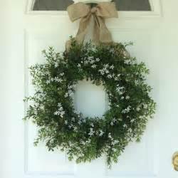 Summer wreaths boxwood wreath front door decor by reginasgarden