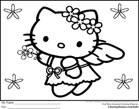 hello kitty coloring page free large images