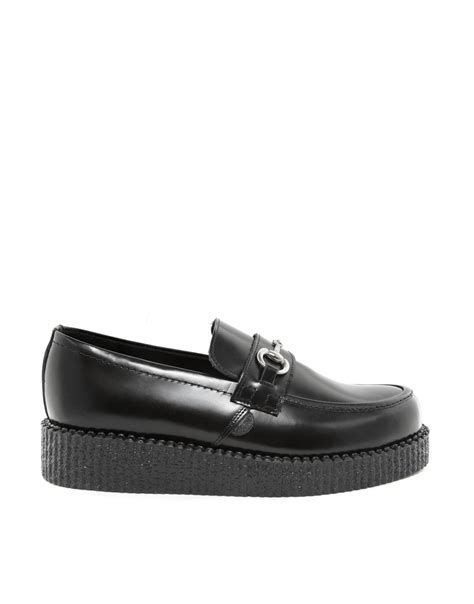 underground loafers lyst underground creeper loafers in black for