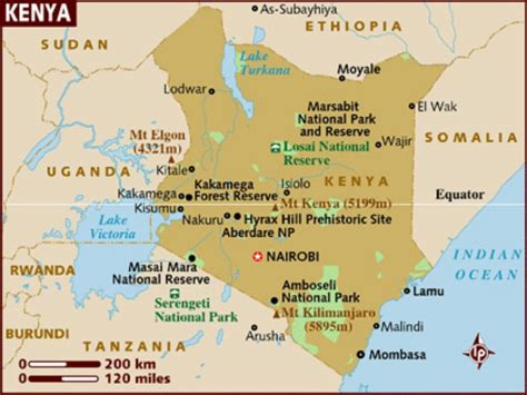 map of kenya kenia wetterkarte
