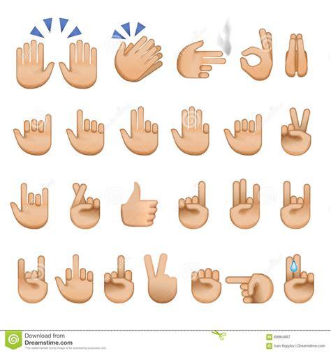 imagenes de simbolos con las manos sistema de los iconos y de los s 237 mbolos emoji de las