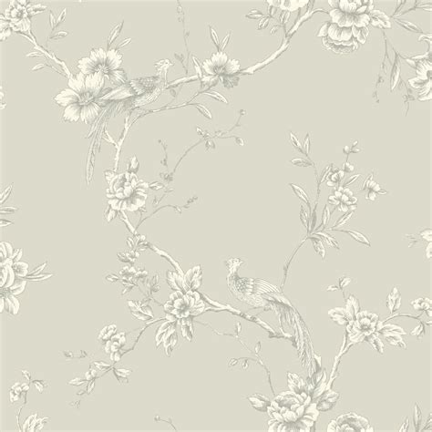 shabby chic wallpaper shabby chic bird on branch wallpaper taupe the shabby