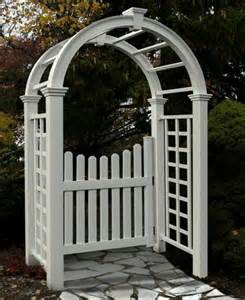 Garden Arbor With Gate White Amazing Pergola Gates Proposals Room Decorating Ideas