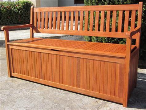 hardwood wooden garden storage bench    seater wood