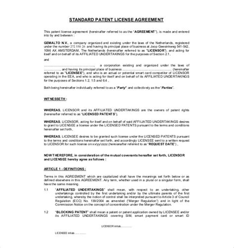 content license agreement template business license template 13 license agreement templates