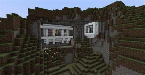 Cliff Side House Minecraft Google Search Minecraft