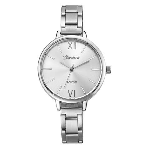 Jam Tangan Geneva 0389 Box 3 jam tangan wanita analog stainless steel