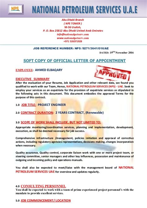 Contract Letter Uae nps uae contract ahmed elbaqary