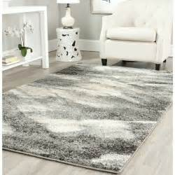 Safavieh Grey And Ivory Rug Safavieh Retro Modern Abstract Grey Ivory Rug 8 9 X 12