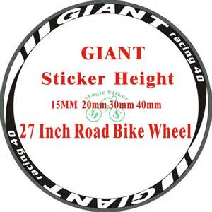 Decal stickers road bike bicycle stickers 27 inch road bike wheel rims