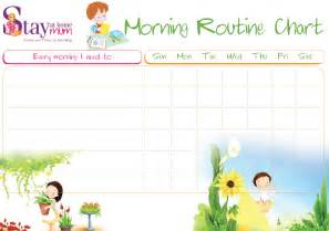 morning routine chart stay at home mum