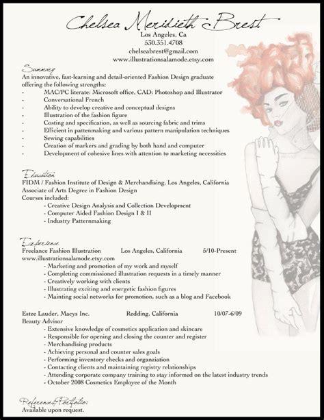 resume format for fashion designer resume ƒαѕнιση ιℓℓυѕтяαтιση fashion resume resume exles and creative cv
